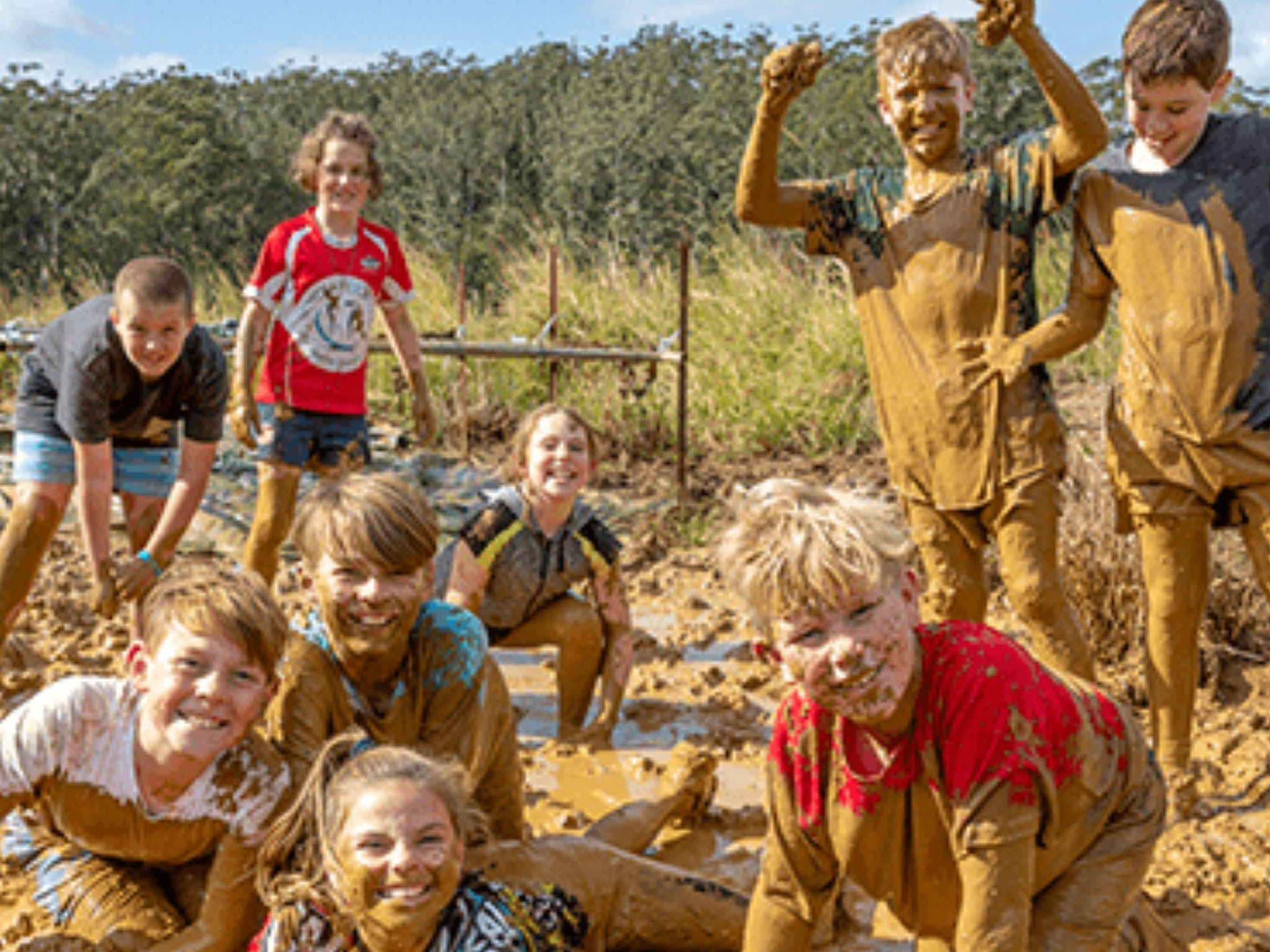 Mini Muddies Obstacle Challenge at Bunnamagoo Estate - Accommodation in Surfers Paradise