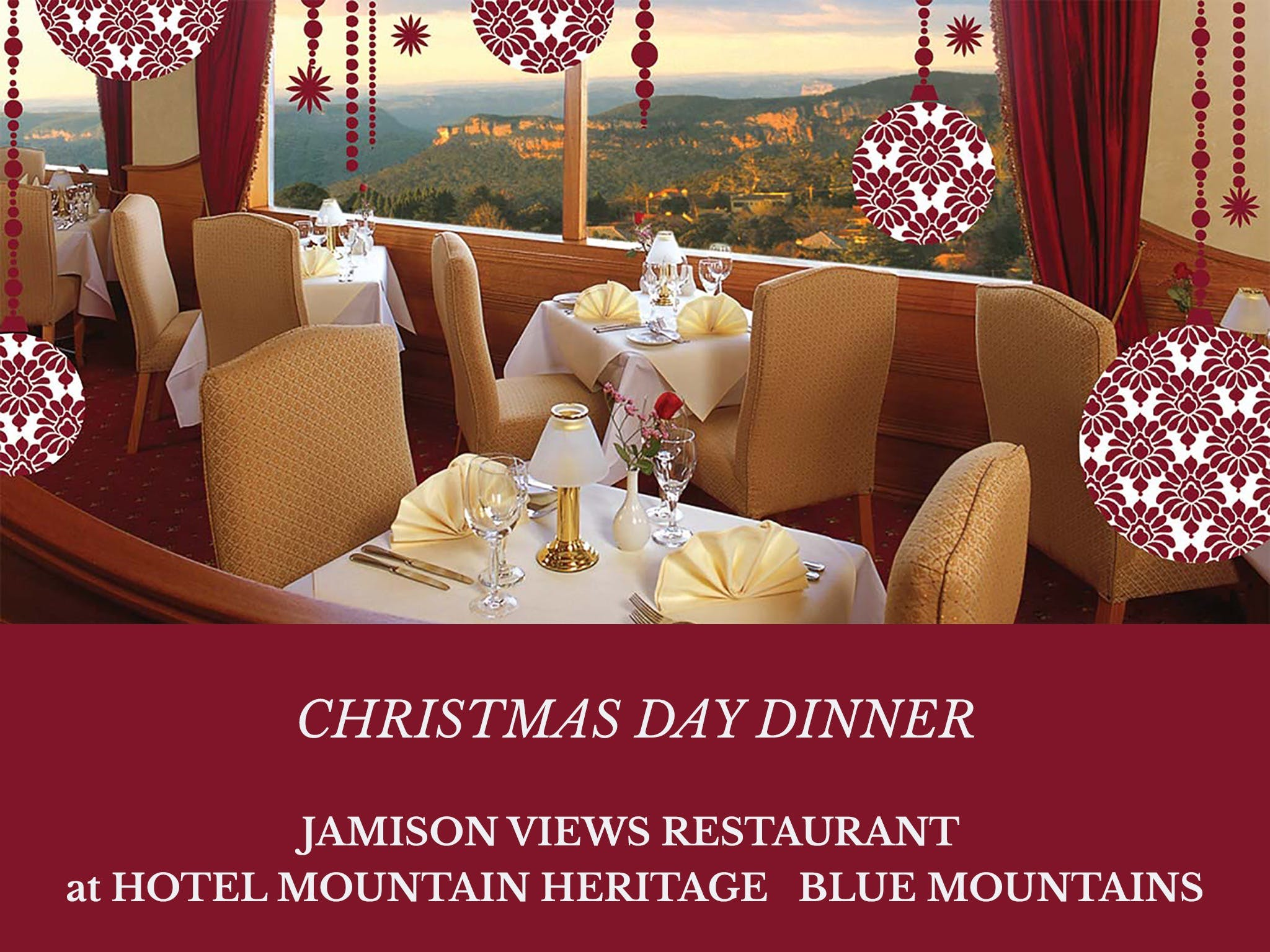 Christmas Day Dinner Hotel Mountain Heritage - Accommodation in Surfers Paradise